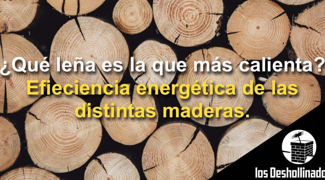 ¿Qué leña es la que más calienta? Eficiencia energética de las distintas maderas